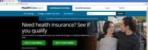 healthcare.gov screen capture