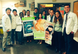 Members of Drexel University's Asian Pacific American Medical Student Association participate in a hepatitis B screening program at a Chinese Christian church in Philadelphia.