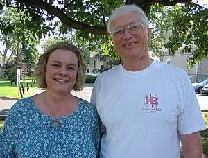 "Hep B List ""parents"" Sheree Martin and Steve Bingham at a 2005 patient conference."